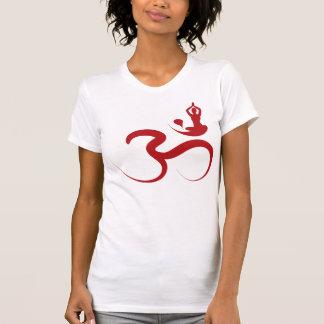 Simple Zen Yoga Om Calligraphy Silhouette T-shirt