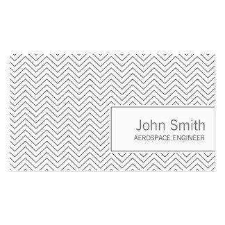 Simple Zigzag Aerospace Engineer Business Card