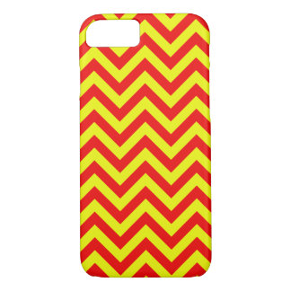 SimpleRed And Yellow Chevron iPhone Case