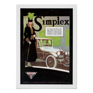 Simplex Automobile Advertisement Poster