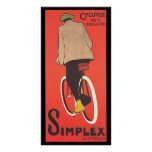 Simplex Bicycle Advertising Poster