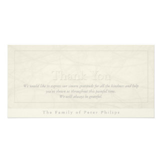 Simplicity 1 Sympathy Thank You Photo Card
