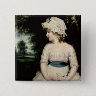 Simplicity - A Portrait of Miss Theophilia Ghatkin 15 Cm Square Badge