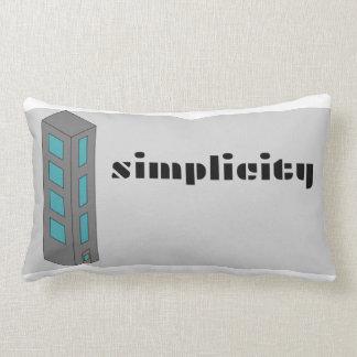 Simplicity- A simple city Lumbar Cushion