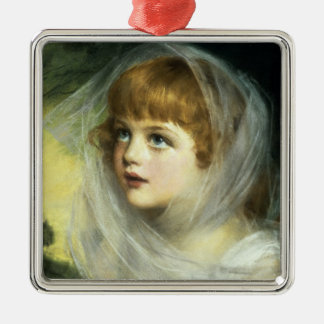 Simplicity and Innocence, 1900 Silver-Colored Square Decoration