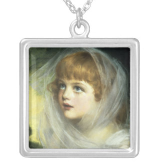 Simplicity and Innocence, 1900 Silver Plated Necklace