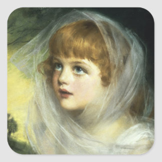 Simplicity and Innocence, 1900 Square Sticker
