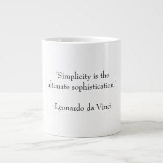 Simplicity and Sophistication Large Coffee Mug