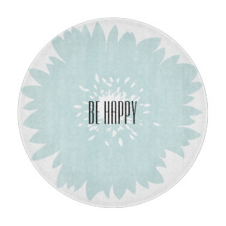 Simplicity Blue Flower Cutting Board