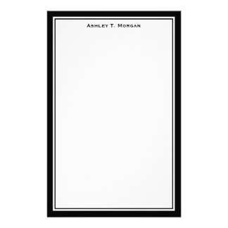 Simplicity DIY Frame White Personalized Black Stationery