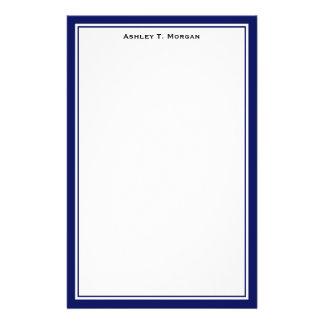 Simplicity DIY Frame White Personalized Navy Custom Stationery