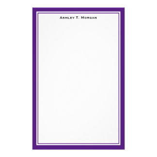 Simplicity DIY Frame White Personalized Stationery