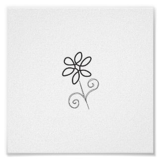 Simplicity Flower Canvas Poster