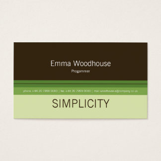 Simplicity Green & Brown Business Card