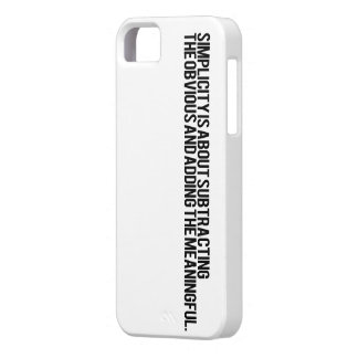 Simplicity iPhone 5 Cover