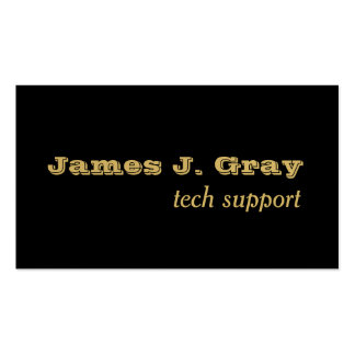 Simplicity Luxe Black Gold Pack Of Standard Business Cards