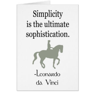 Simplicity Quote With Dressage Horse Card