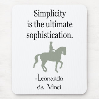 Simplicity Quote With Dressage Horse Mouse Mat