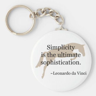 Simplicity Quote With Jumper Horse Basic Round Button Key Ring