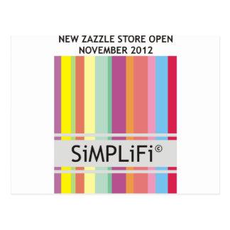 SiMPLiFi New Zazzle Store Postcard