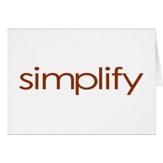 Simplify Card