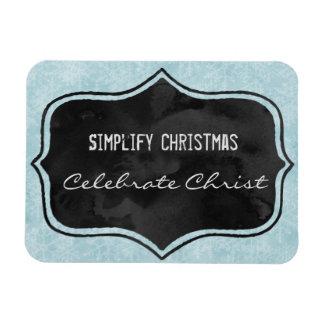 Simplify Christmas Rectangular Photo Magnet