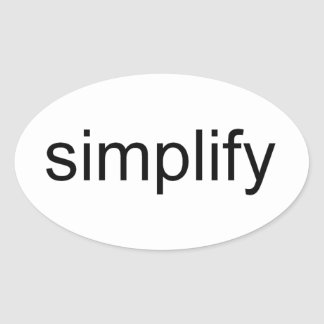 Simplify Oval Sticker