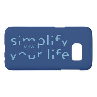 """Simplify Your Life"" custom monogram phone cases"
