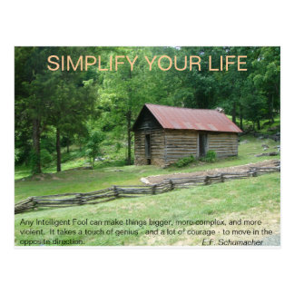 Simplify Your Life Postcard