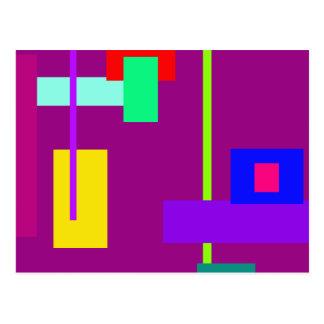 Simplistic Minimal Art Design Dark Magenta Postcard