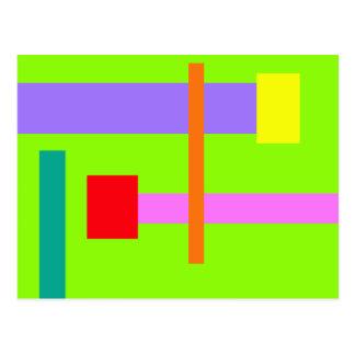 Simplistic Minimal Design Green Field Postcard