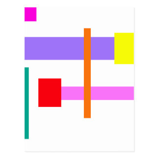 Simplistic Minimal Design Pink Postcard