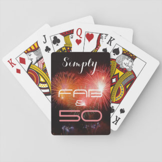 Simply 50 & Fab - Playing Cards
