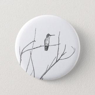 Simply a Hummingbird on a stick 6 Cm Round Badge