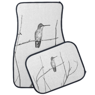 Simply a Hummingbird on a stick Car Mat
