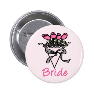Simply Adorable Bridal Bouquet 6 Cm Round Badge