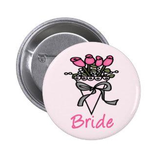 Simply Adorable Bridal Bouquet Button