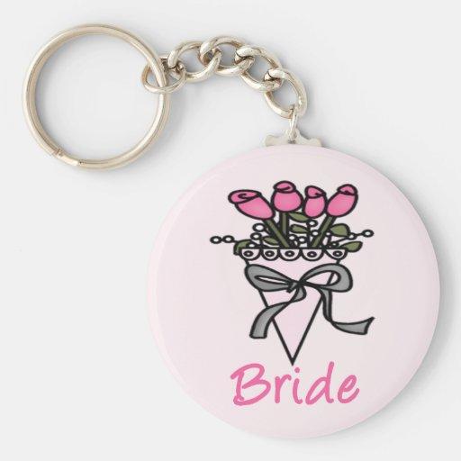 Simply Adorable Bridal Bouquet Key Chain