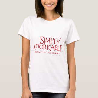 Simply Adorkable, brick red T-Shirt