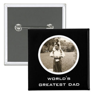 Simply Awesome Photo 15 Cm Square Badge
