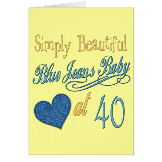 Simply Beautiful 40th Card