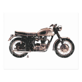 Simply Beautiful Classic Motorcycle Postcard