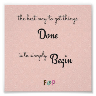 Simply Begin Wall Art