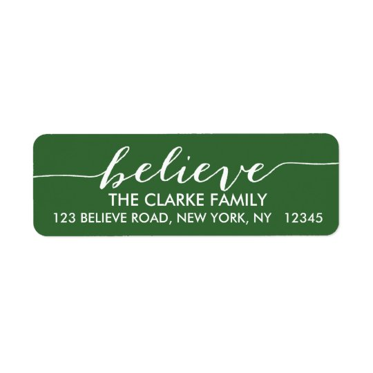 Simply Believe Green White Holiday Greeting
