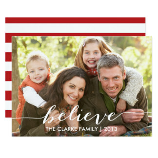 Simply Believe Holiday Photo Card 13 Cm X 18 Cm Invitation Card