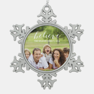 Simply Believe   Holiday Photo Ornament