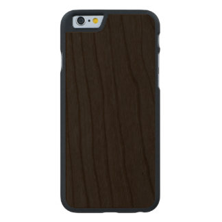 Simply Black Solid Color Carved® Cherry iPhone 6 Slim Case