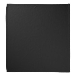 Simply Black Solid Color Customize It Bandannas