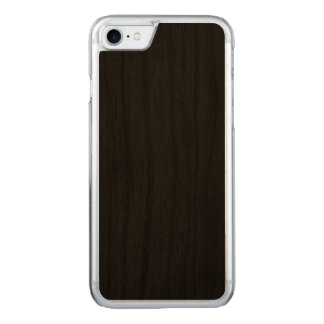Simply Black Solid Color Customize It Carved iPhone 7 Case