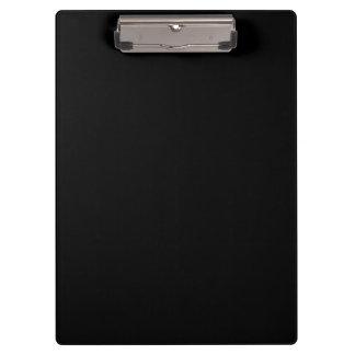Simply Black Solid Color Customize It Clipboards